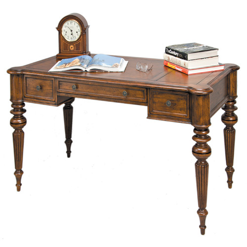 Reual James Windsor Writing Desk with 3 Drawers