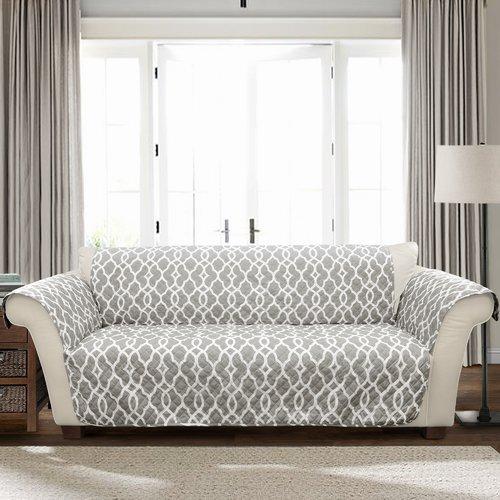 Charlton Home Geo T-Cushion Sofa Slipcover