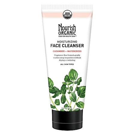 Nourish Organic Moisturizing Face Cleanser, Cucumber Watercress, 6 (The Best Organic Face Wash)