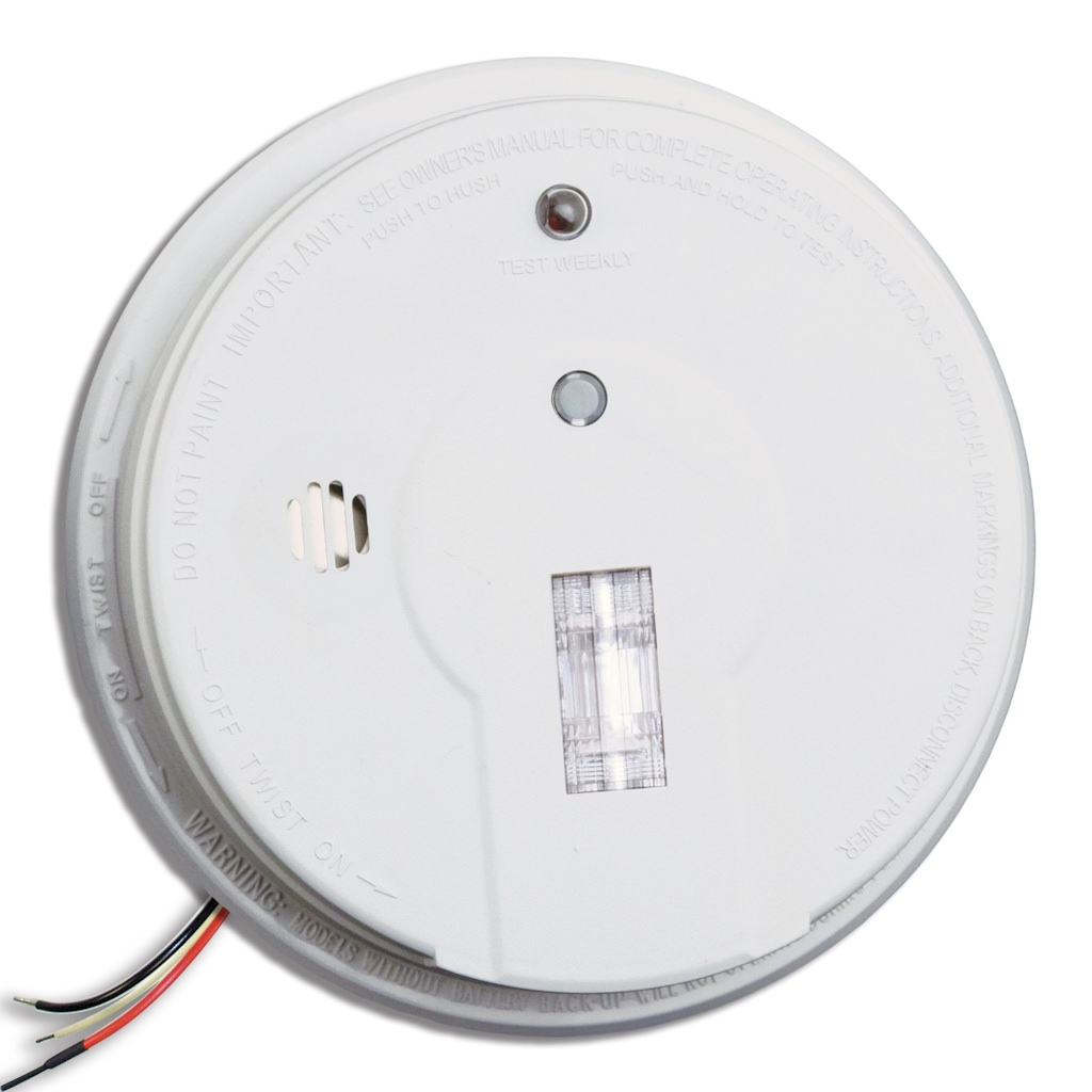 Kidde 40382 - 120 volt Smart Hush Smoke Alarm with Safety Light (9V  Battery Included) (21006379 i12080)