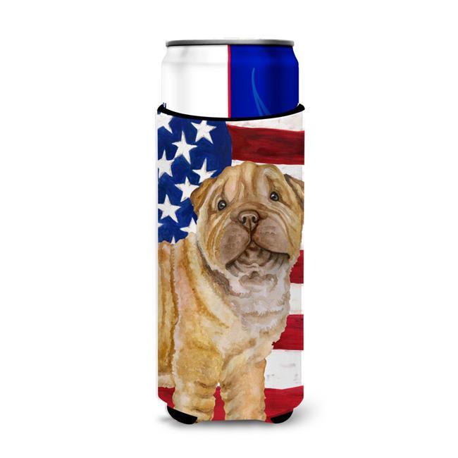 Shar Pei Puppy Patriotic Michelob Ultra Hugger for Slim Cans - image 1 de 1