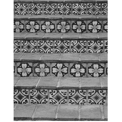 """Trademark Fine Art """"Black and White Tiles"""" Canvas Art by Patty Tuggle"""