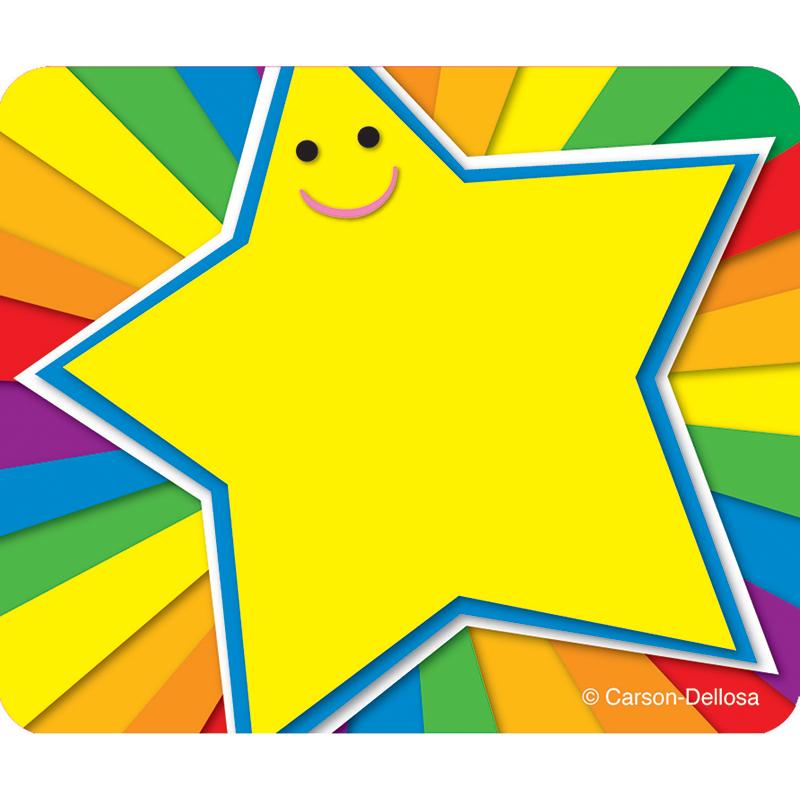 (6 Pk) Rainbow Star Name Tags - image 1 de 1