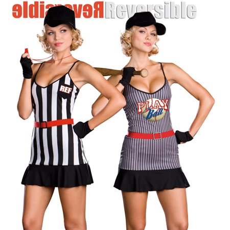 Dreamgirl Sexy REVERSIBLE Baseball Player Referee Halloween Costume for $<!---->