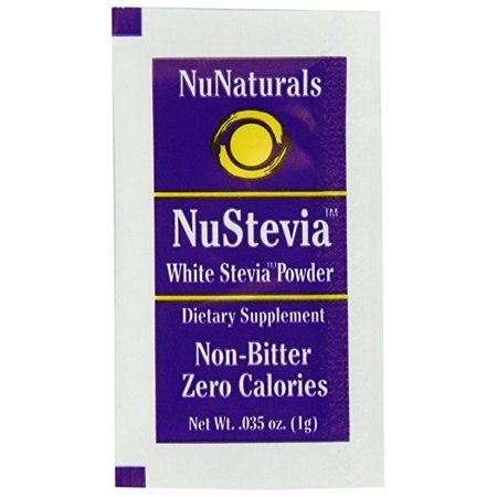 NuNaturals - NuStevia White Stevia Powder 1000 (Nunaturals White Stevia Powder Packets)