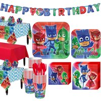 PJ Masks Tableware Party Supplies for 24 Guests, Tableware and Decorations