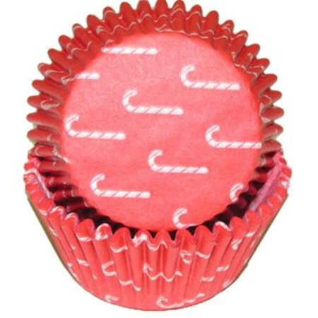 Christmas Candy Cane Cupcake Baking Cups - Liners 50 Count - National Cake - Halloween Dirt Cake Cups