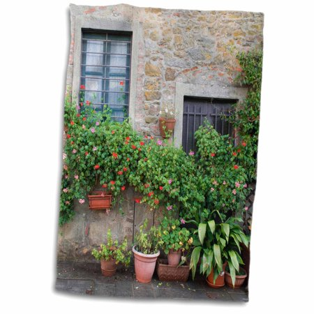3dRose Europe, Italy, Tuscany. The town of Volpaia. - Towel, 15 by
