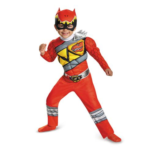 Toddler Red Power Ranger Dino Charge Costume Size 2T