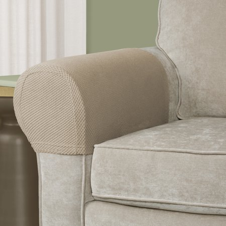 Mainstays Stretch Pixel 2 Piece Armrest Furniture Cover Slipcover