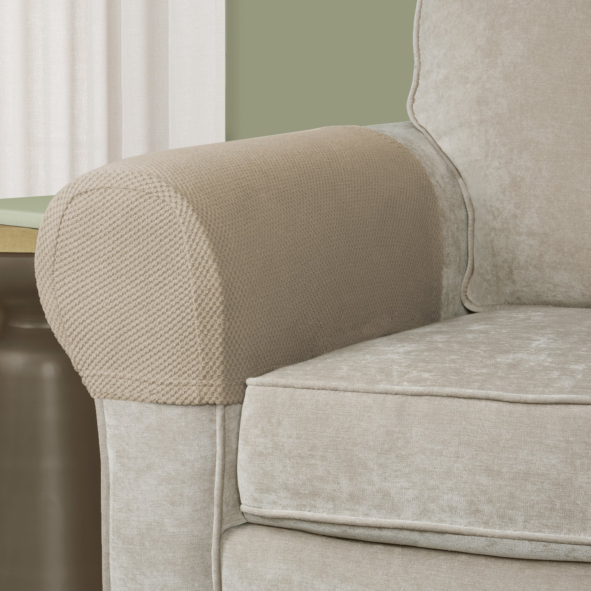 Genial Mainstays Stretch Pixel 2 Piece Armrest Furniture Cover Slipcover    Walmart.com