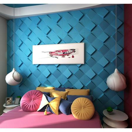 3D Wall Panels Space Design - Box of 10 panels (Each panel 2.67sqft / Box of 26.67 sqft) ()