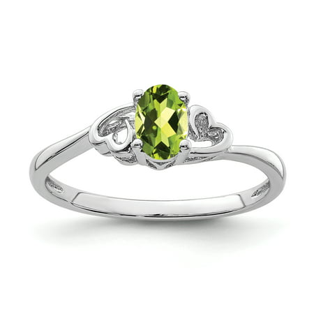 Sterling Silver Peridot Ring. Gem Wt-