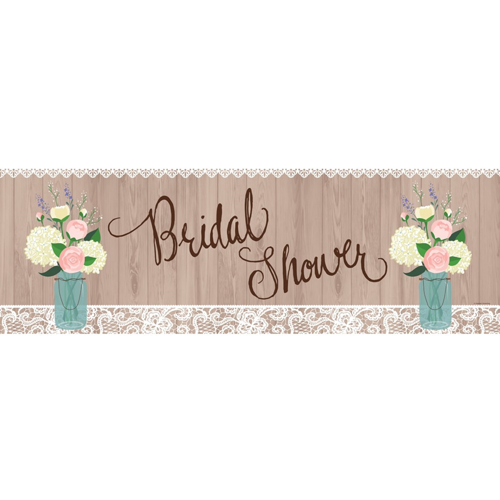 "Rustic Wedding 60""W x 20""H Giant Party Banner/Case of 6"