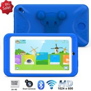 """Kids Tablet,Excelvan M07R7 CortexTM A7 Quad-core 7.0""""Android 6.0 1GB+8GB Dual Camera WIFI BT Children Tablet PC With Protective Case"""