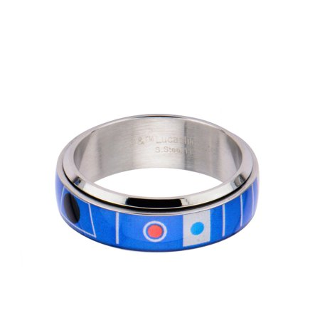 Star Spinner Ring (Star Wars R2D2 Spinner Stainless Steel Ring | 9)
