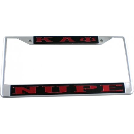 Kappa Alpha Psi Nupe License Plate Frame  Black Red   Car Truck