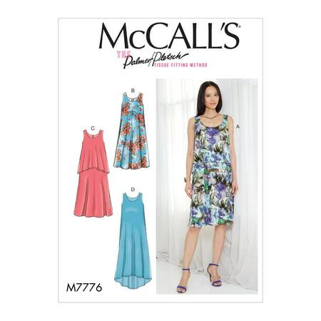 McCall's Sewing Pattern Misses' Dresses-L-XL-XXL ()