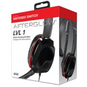 Nintendo Switch Afterglow LVL 1 Chat Communicator Wired Headset by PDP, 500-037-NA