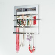 Wall Hanging Silver Jewelry Storage Rack