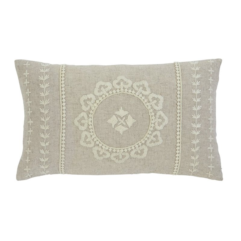 Ashley Embroidered Throw Pillow in Antique (Set of 4) by Ashley Furniture