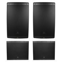 "2) JBL EON615 15"" 2000 Watt Bluetooth Powered DJ PA Speakers+(2) 18"" Subwoofers"