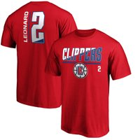 Men's Fanatics Branded Kawhi Leonard Red LA Clippers Baseline Fade Name & Number T-Shirt