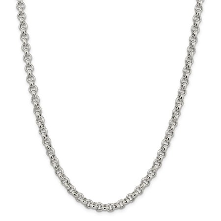 925 Sterling Silver 6.5mm Rolo Chain Necklace 24 Inch Pendant Charm Fine Jewelry Gifts For Women For Her - image 9 of 9