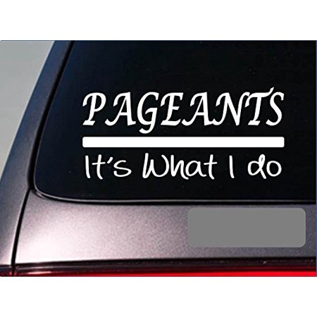 Pageants sticker decal *E361* model queen dress prom gown makeup hair contest - Prom Queen Dress Up