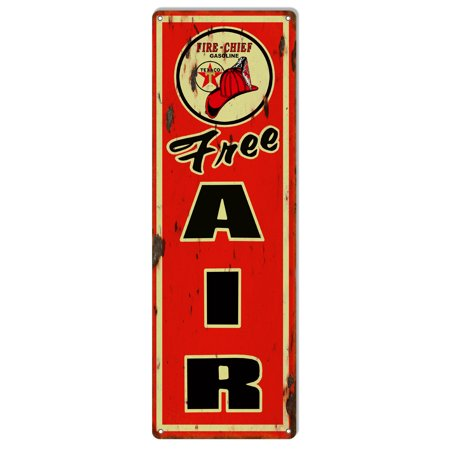 - Texaco Free Air Distressed Reproduction Motor Oil Metal  Sign 6