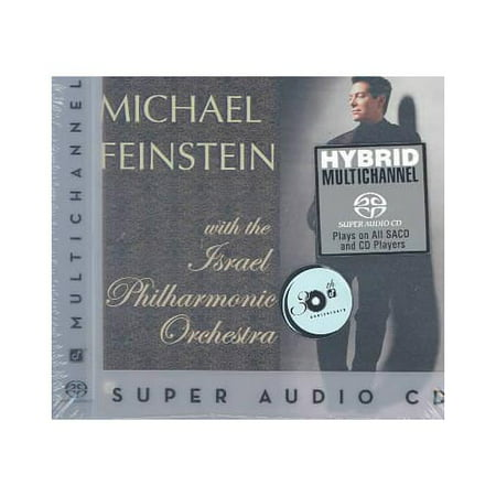 Full title: Michael Feinstein With The Israel Philharmonic Orchestra.This is a hybrid Super Audio CD playable on both regular and Super Audio CD players.Personnel includes: Michael Feinstein (vocals, piano); Alan Broadbent (arranger, conductor, piano);  Avishai Cohen (bass); Albie Berk (drums); The Israel Philharmonic Orchestra.Producers: Allen Sviridoff, Leslie Ann Jones.Recorded