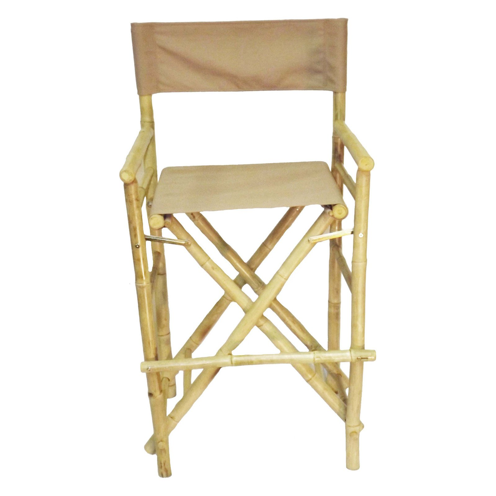 Bamboo54 Folding 27 in. High Directors Chair With Cover - Set of 2