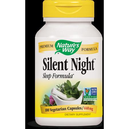 Nature's Way Silent Night Sleep Formula Vegetarian Capsules, 100 Ct Formula 60 Capsules Natures Way