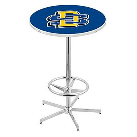 Holland Bar Stool L216C42SDakSt South Dakota State University Pub Table with Foot Ring, Chrome - image 1 de 1