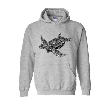 Sea Gull Sweatshirt (Hawaiian Sea Turtle in Hawaii Kauai Maui Oahu Unisex Hoodie Hooded Sweatshirt)