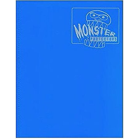 Monster Binder - 4 Pocket Trading Card Album - Matte Blue (Anti-theft Pockets Hold 160+ Yugioh, Pokemon, Magic the
