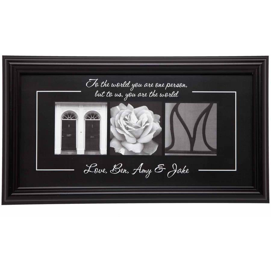 Personalized You Are The World Framed Print, Mom, 1 Child