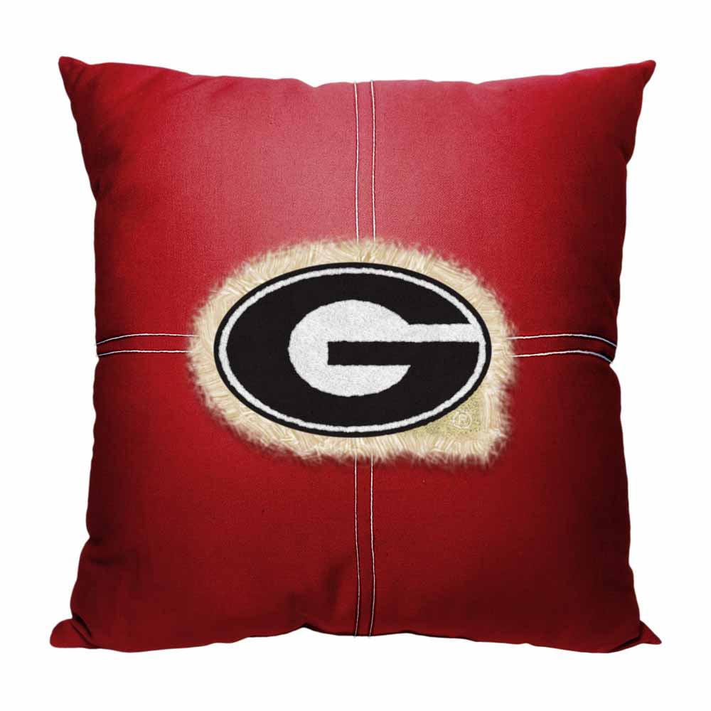 "NCAA Georgia Bulldogs 18"" x 18"" Letterman Pillow"