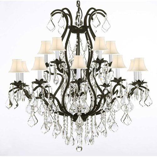 Gallery Harrison Lane Versailles 15-Light Shaded Chandelier