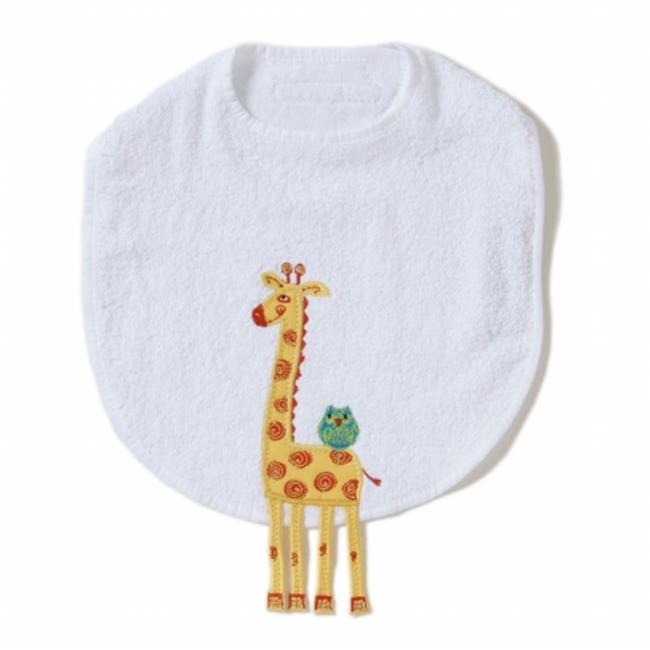 Little Acorn F12T01 Giraffe Bib by Little Acorn