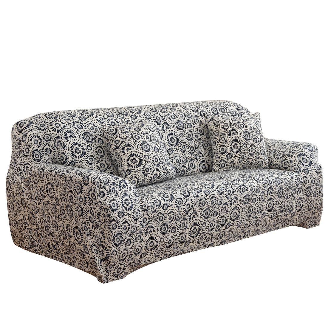 Home Polyester Ring Prints Elastic Sofa Loveseat Cover Slipcover 55