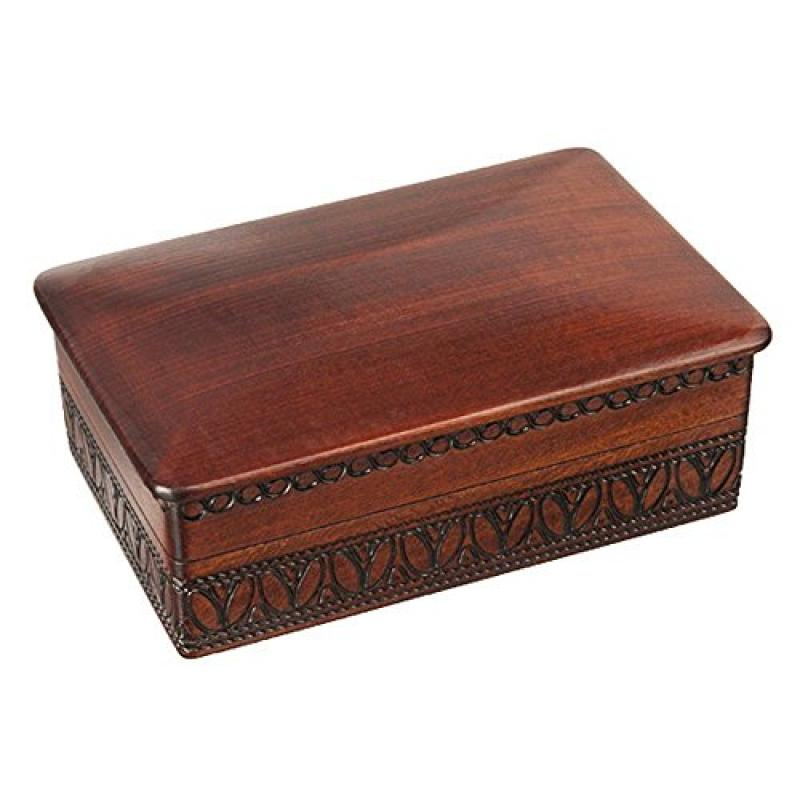 JEWELRY WOODEN BOX Handmade Linden Wood Keepsake, Made in...