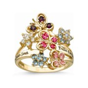 Personalized Family Jewelry Mother's Garden Birthstone Ring available in 10kt and 14kt Yellow and White Gold