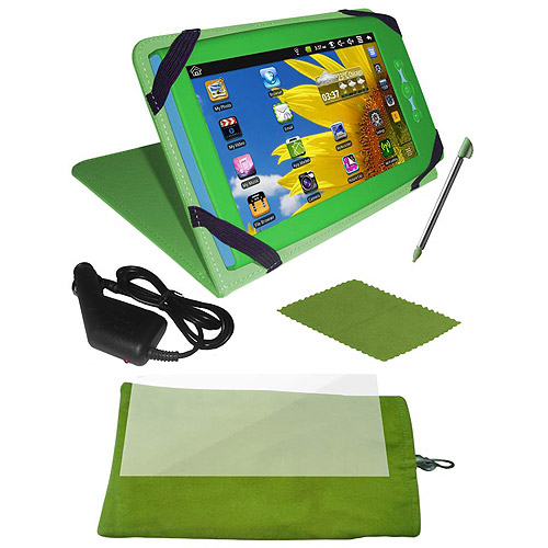Ematic 6-in-1 Accessory Kit for Ematic FunTab, Green (Tablet Sold Separately)