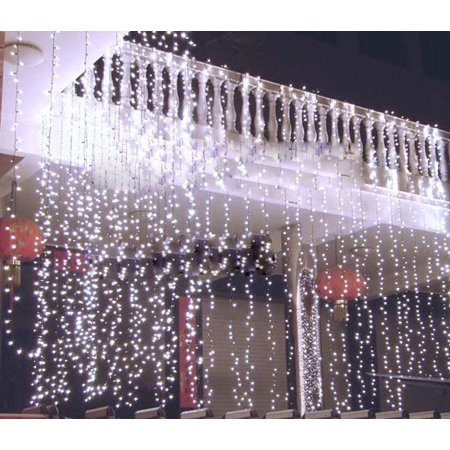 3Mx3M 300LED String Light Curtain Light for Christmas Xmas Wedding Party Home Decoration - White - Party Light Rentals