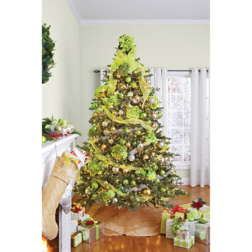 Better Homes and Gardens Pre-Lit 7.5' Hanover Artificial Christmas Tree, Clear Lights