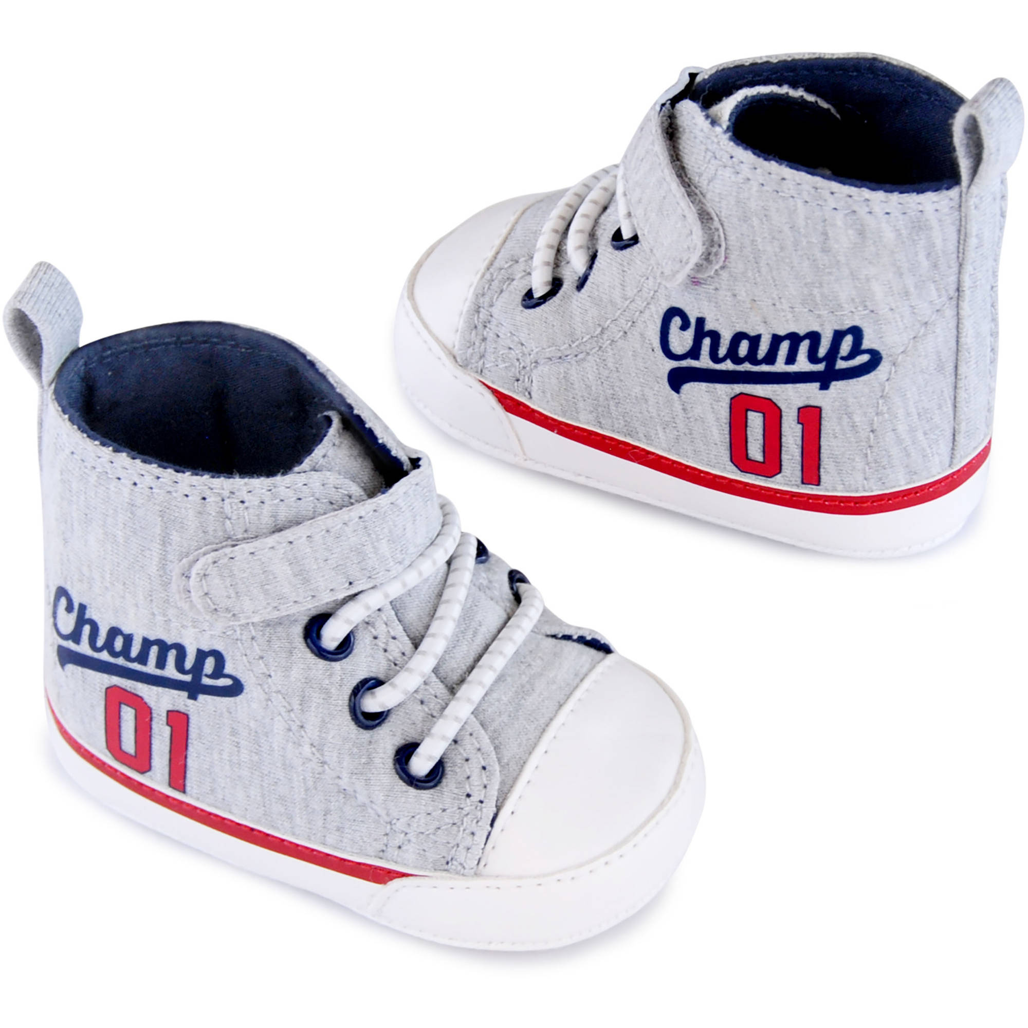 Image of Child of Mine by Carter's Newborn Baby Boys Champs Hi-Top Sneakers, NB