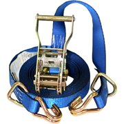 """1"""" x 16' Heavy-Duty Ratchet Tie-Down, 1000 lbs Working Load Limit, DJ-Hook and D-Ring"""