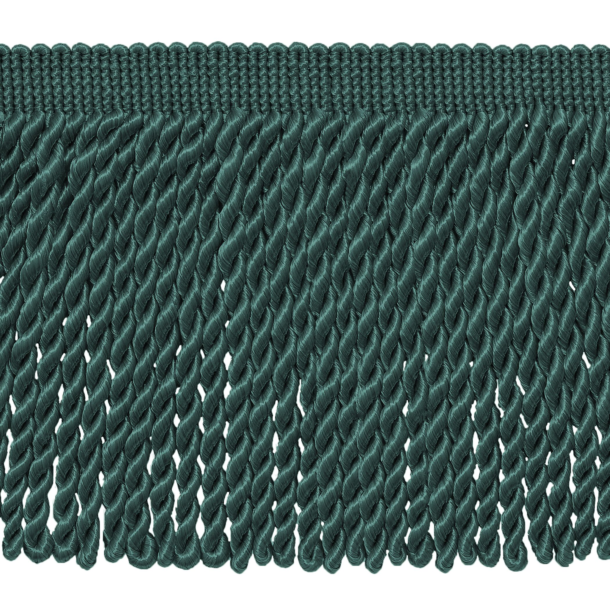 6 Inch Long, Teal Blue Bullion Fringe Trim, Basic Trim Collection, Style# BFS6 Color: 9620 - Light Peacock, Sold By the Yard