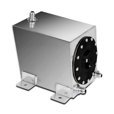 For 1-Gallon/3 75 Liter Aluminum Racing Bottom Feed Fuel Cell Gas Tank w/  Cap